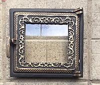 Дверца для печи и барбекю Спарка топочная, печная дверца со стеклом
