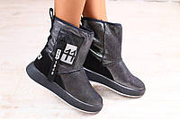 Женские кожаные ботинки угги