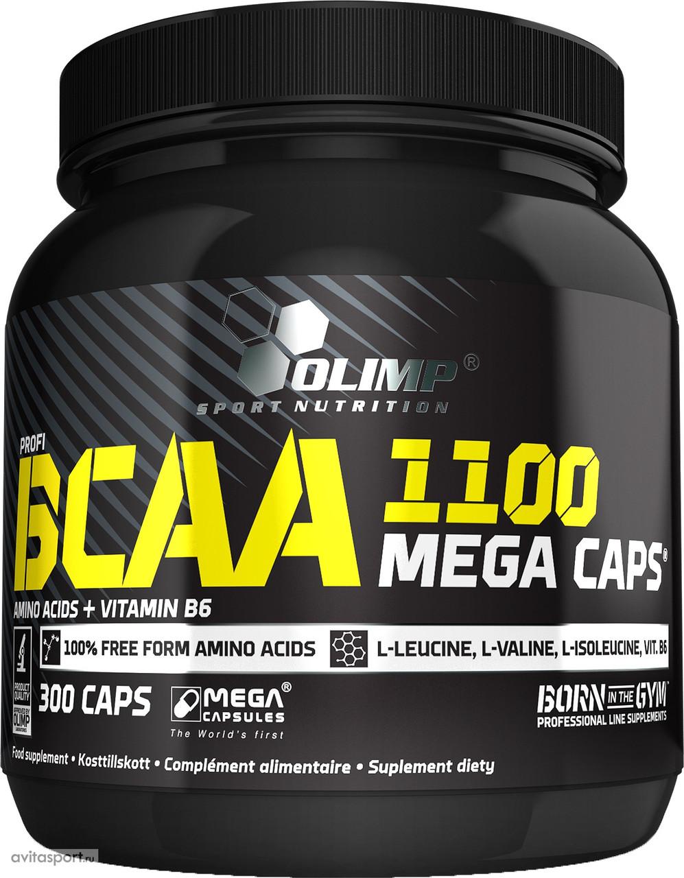 OLIMP BCAA Mega Caps 300 caps, Олимп БЦА Мега капс 300 капсул