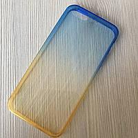 Силиконовый чехол жёлто-синий iphone 5/5S Мерцающий
