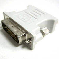 Переходник   Сablexpert DVI(24+5шт)-VGA(роз); A-DVI-VGA-BK
