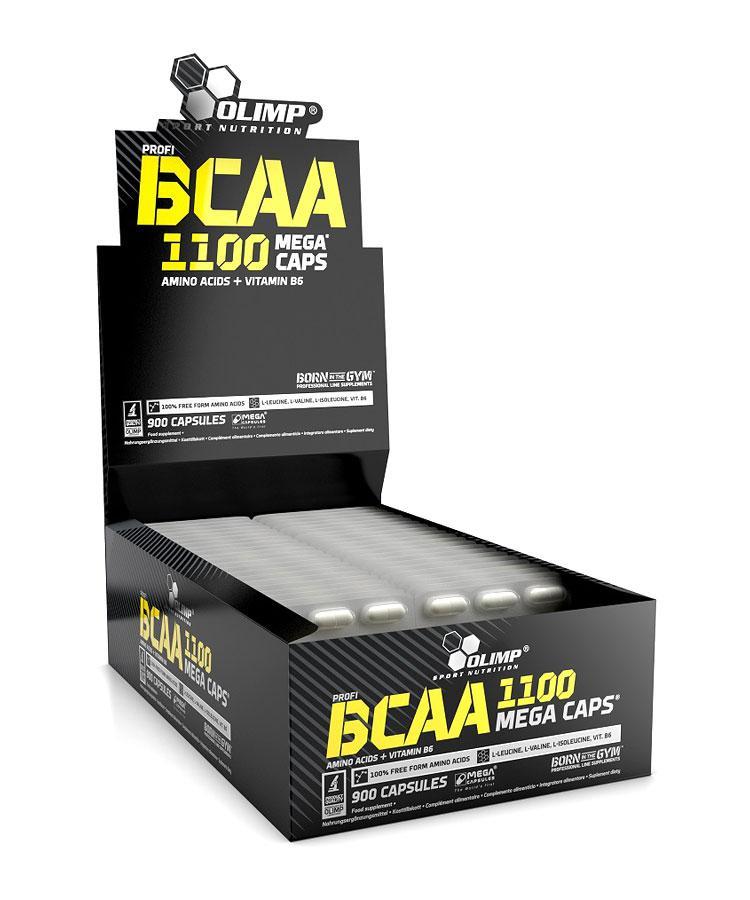 OLIMP BCAA Mega Caps 900 caps, Олимп БЦА Мега капс 900 капсул