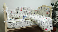"""Сменный постельный комплект  в кроватку для новорожденных """"Паруса"""" (3 ед)"""