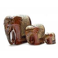 Набор слонов из керамики