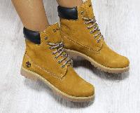 Ботинки зимние Timberland рыжие
