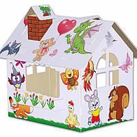 """Картонний будиночок для дітей """"Хатка-Дитятки"""""""