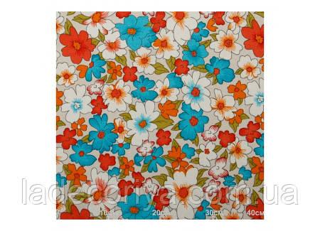 Цветы, ткань для декора ,тефлоновая пропитка