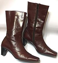 Красивые кожаные итальянские сапоги tendance 40 р