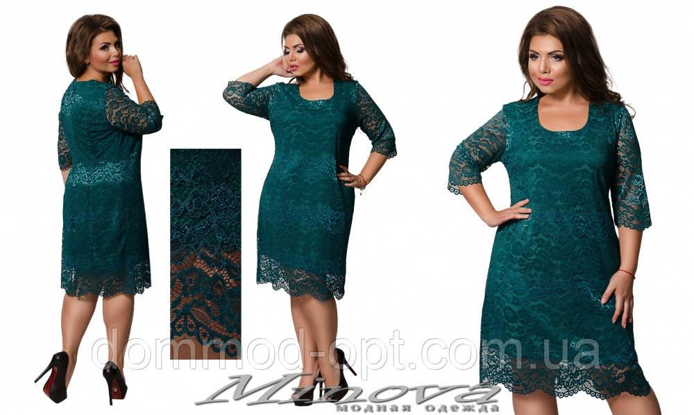 Платье №0235-зеленый