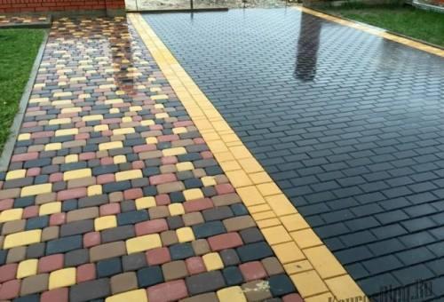 тротуарная плитка разных цветов