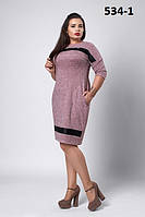 Платье офисное новинка классическое больших размеров  Елизавета  размеров 50, 52, 54, 56 разных цветов