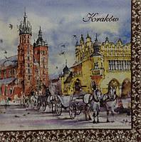 Салфетка для декупажа Краков (33*33 см.)