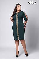 Платье  нарядное для  полных с кружевом новинка Камелия размеров 52, 54, 56, 56, 58, 60, 62 разных цветов