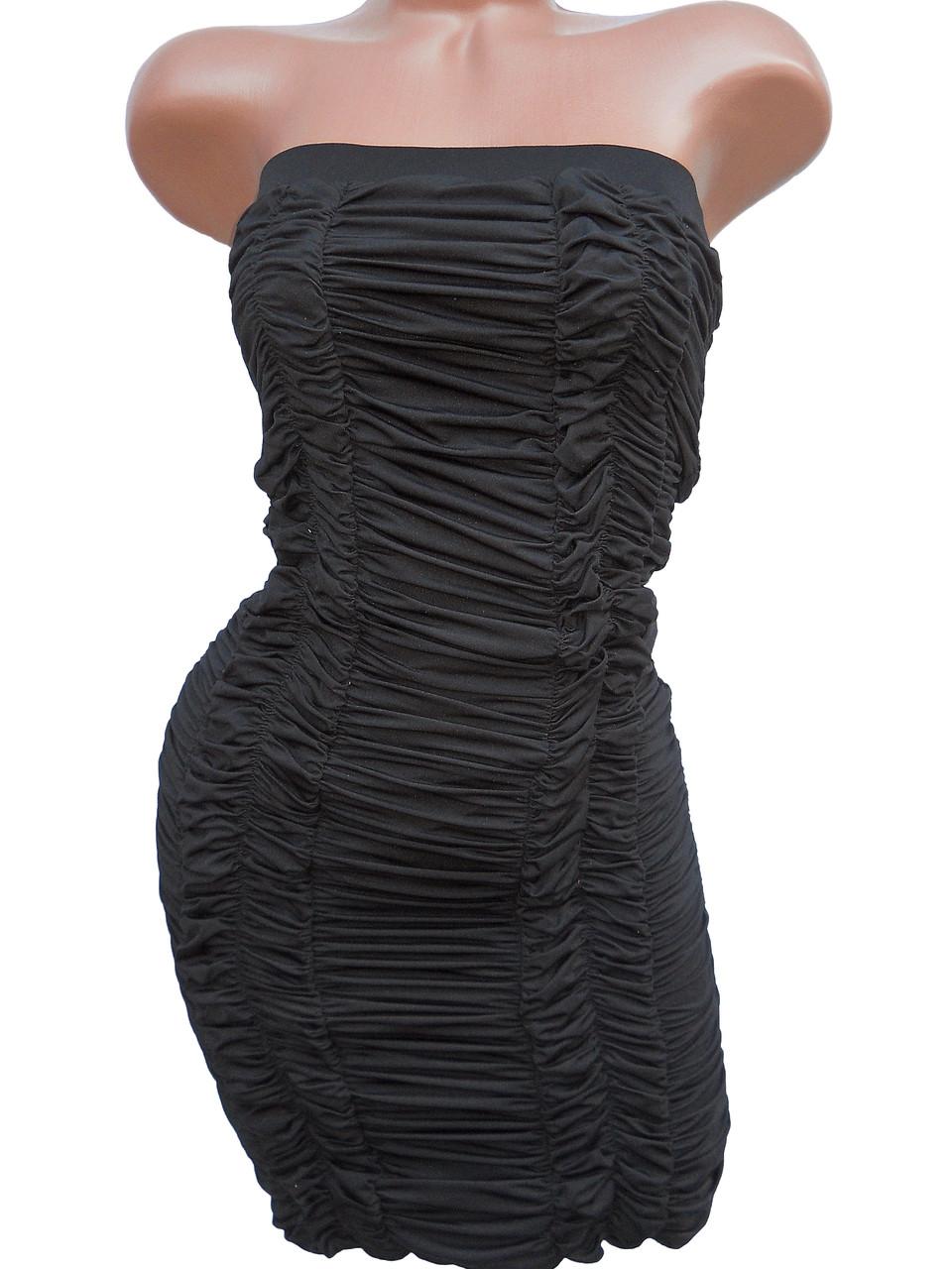 Стильное черное платье-топ (42-44)