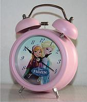 """БУДИЛЬНИК детский """"Disney Frozen"""" (12*8*5 см) металл"""