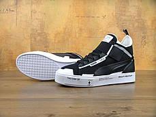 Кроссовки мужские пума Puma Court Play x UEG Black/White. ТОП Реплика ААА класса., фото 3