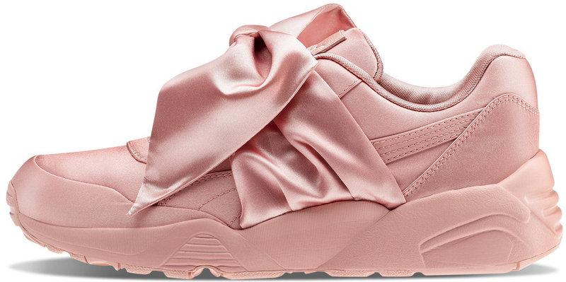 Кроссовки женские пума Puma Fenty By Rihanna Bow Sneaker Pink . ТОП Реплика ААА класса.