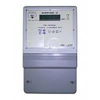 Счетчик электроэнергии CTK3-10Q2H4.K4t «Энергия-9» трехфазный 5 А 3×220/380 В однотарифный, Телекарт-Прибор