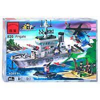 Конструктор Brick Военный корабль 614 дет. (820)