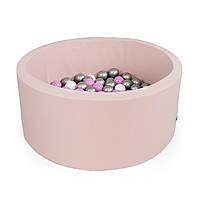 Бассейн детский игровой с шариками (круглый, розовый)