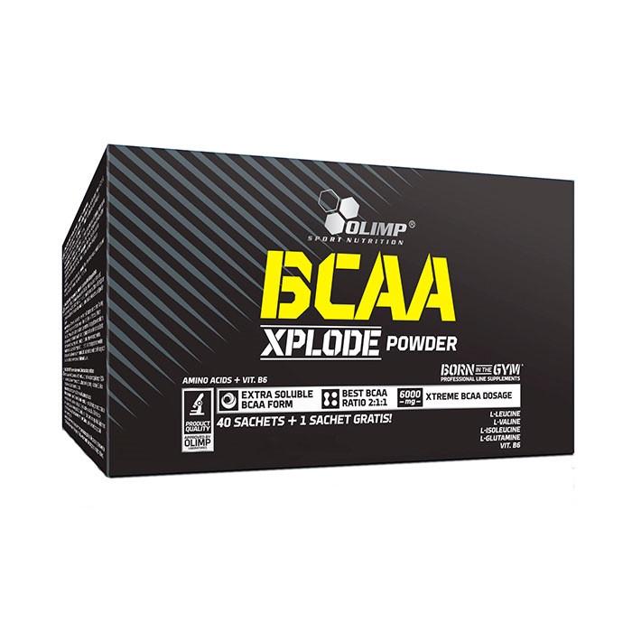 OLIMP BCAA Xplode Powder 40+1*10 g sachets, Олимп БЦА Эксплод 40 пакетиков по 10 грамм