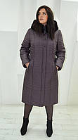 Пальто женское зимнее П-62 черника