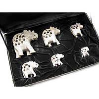 Статуэтки слоники резные для декора