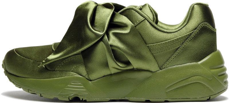 Кроссовки женские пума Puma Fenty By Rihanna Bow Sneaker Green . ТОП Реплика ААА класса.