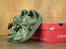 Кроссовки женские пума Puma Fenty By Rihanna Bow Sneaker Green . ТОП Реплика ААА класса., фото 2