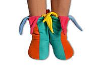 """Флисовые домашние уютные тапочки """"Клоун"""", тапочки для всей семьи. Любой размер и цвет."""