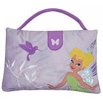 Детская мягкая игрушка сумочка подушка 2 в 1 фиолетовая Феи 30х40см 15082