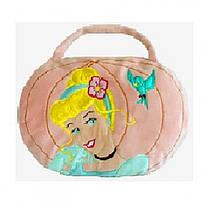 Детская мягкая игрушка сумочка подушка 2 в 1 розовая принцесса 15084
