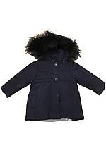 Зимняя куртка пуховик To Be Too c натуральным мехом 9мес 74см