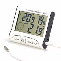 Термометр гигрометр dc-103, с наружным термо-датчиком, индикация комфортности климата