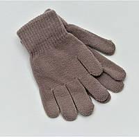 Детские перчатки бежевые на деток 4-6лет