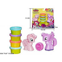 Набор для творчества - детской лепки Пони маленькая розовая или голубая SM8010в коробке 17,5*19,5*5