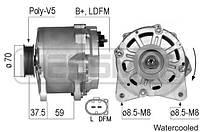 Генератор Ауди Audi A6, A8, Q7 4.2 FSI (2006-2011); Хитачи Hitachi 14V/190A