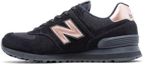 Кроссовки мужские Нью Беленс New Balance 574 Molten Metal Black (Black/Rose Gold). ТОП Реплика ААА класса.