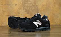 Кроссовки мужские Нью Беленс New Balance 574 Molten Metal Black (Black/Rose Gold). ТОП Реплика ААА класса., фото 2