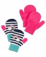 Набор детских вязанных варежек Carters для девочки