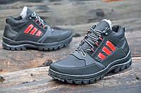 Зимние мужские спортивные кроссовки, ботинки,полуботинки черные прошиты Львов