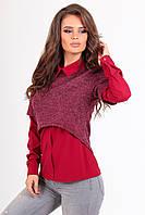 Молодежная женская блузка с кофтой