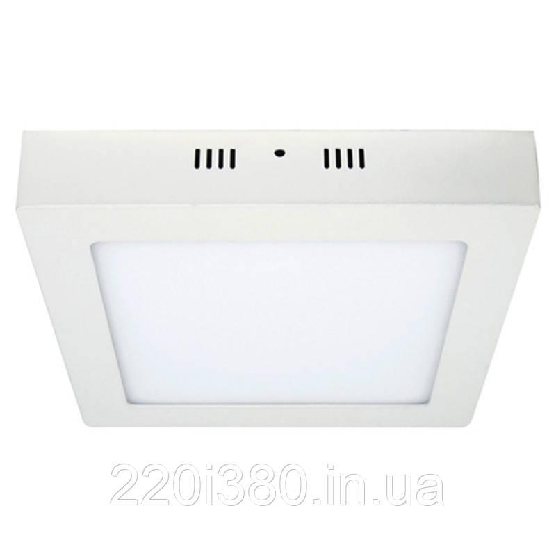 Светильник AL505 18W квадрат накладной 1440Lm 5000K 225*225*40mm FERON