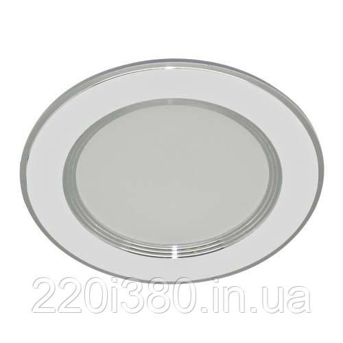Светильник AL527  7W круг встр., белый  560Lm 4000K  108*28mm FERON