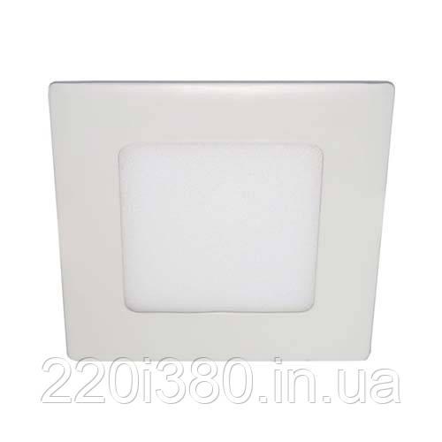 Светильник AL511  6W квадрат встр. , белый  360Lm 4000K 121*13.5mm FERON