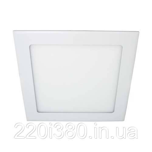 Светильник AL511  9W квадрат встр. , белый  540Lm 4000K 146*13.5mm FERON
