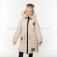"""Зимняя куртка для девочки """"Шапочка """",Зима 2018, фото 1"""