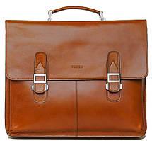 Мужской кожаный портфель VATTO Mk24Каz рыжий