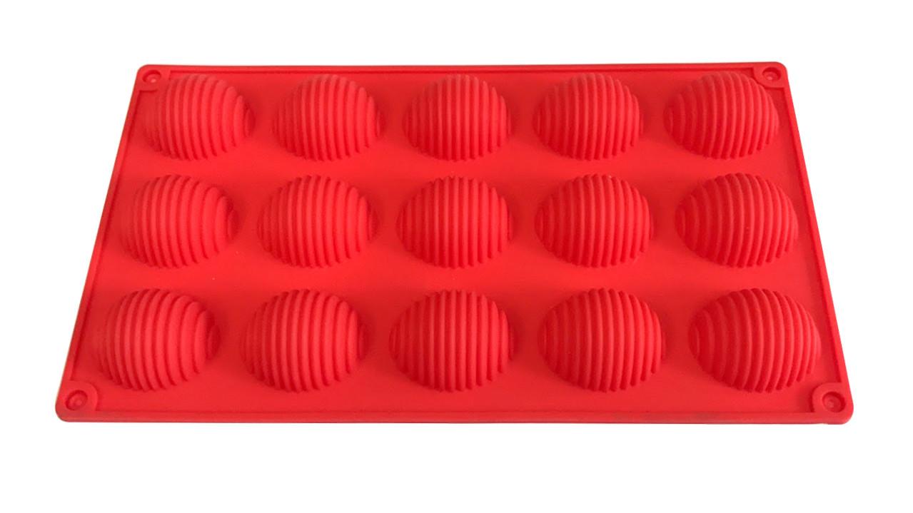 Форма силиконовая для выпечки Сфера рельефная 15 шт на планшете