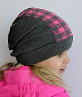 Модная клетчатая шапка для девочек , фото 1